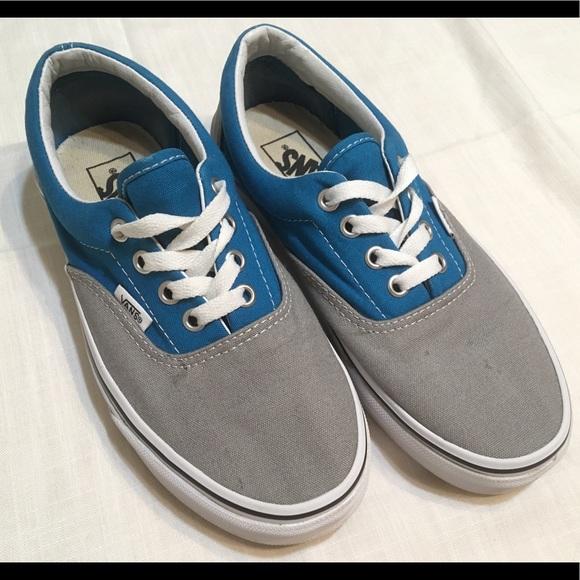 93d9570309 Vans Off the Wall Womens 6.5 Gray Teal Shoes. M 5bb61737df0307a6ff861ba3